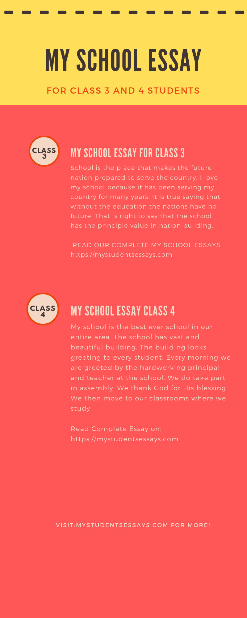 Essay of my school