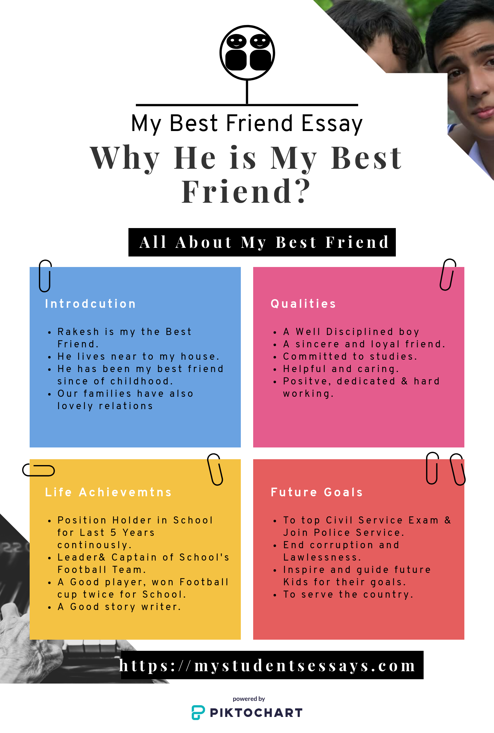 Essays on My Best Friend | Excellent Essays for Students