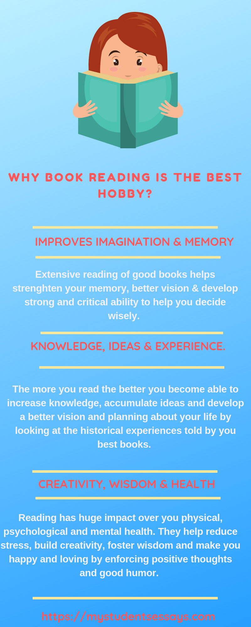 My hobby books reading essay, short speech and paragraph