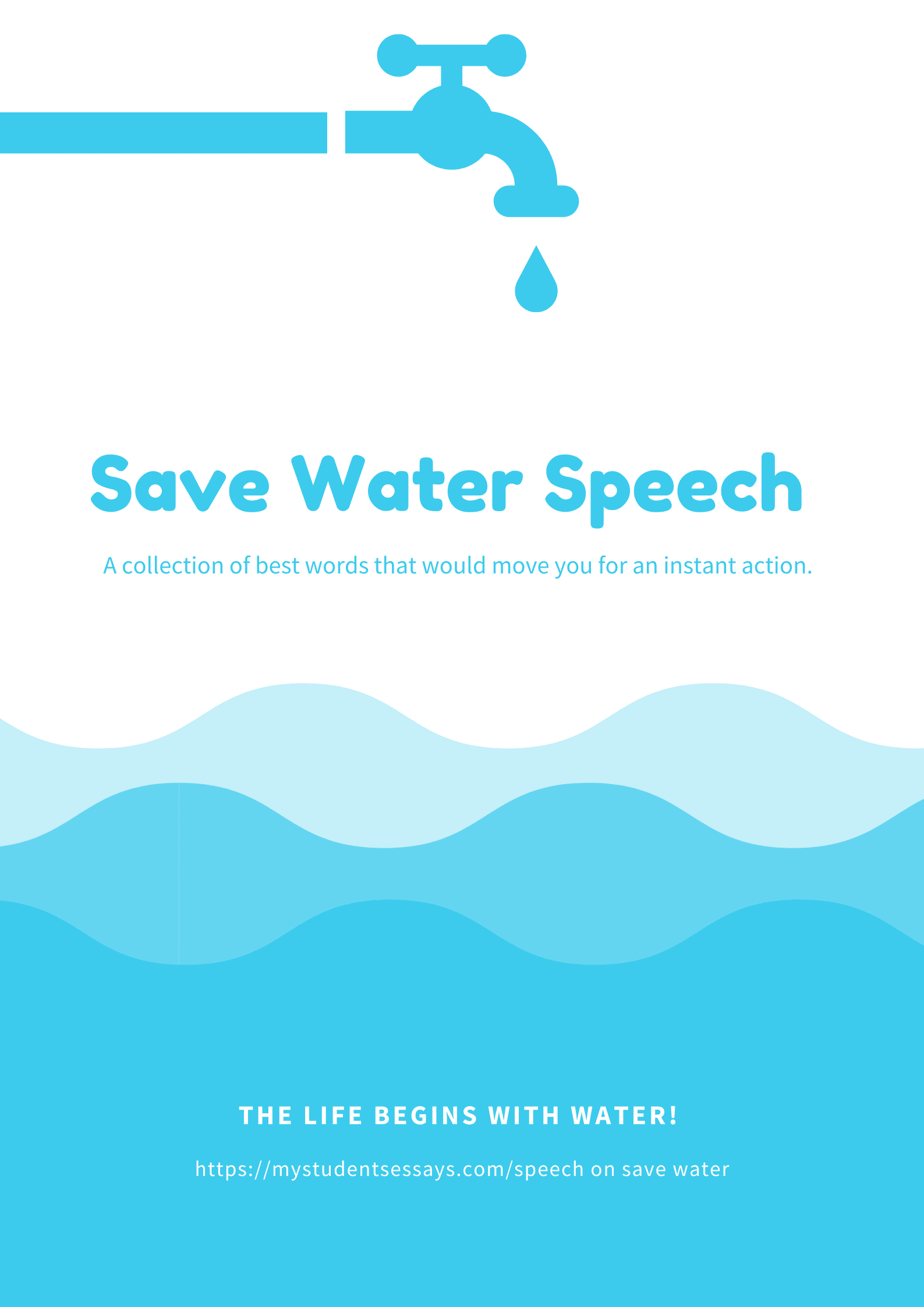 Best Speeches on Save water, its importance and need for the future