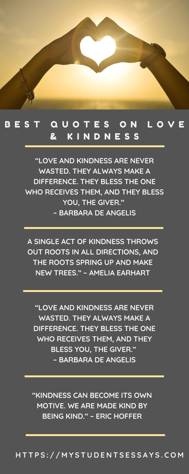 Selected Essays & Speeches on Love & Kindness For Students