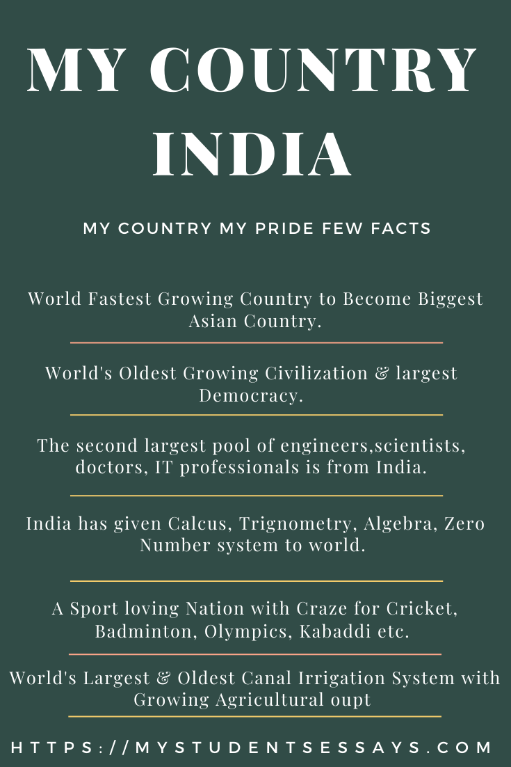 My Country My Pride India Essay | 10 Lines, Short Essays for Children