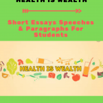 Essay on Health is Wealth | Best Essays & Short Speech For Students