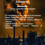 Essays on Pollution | Types, Causes & Impacts