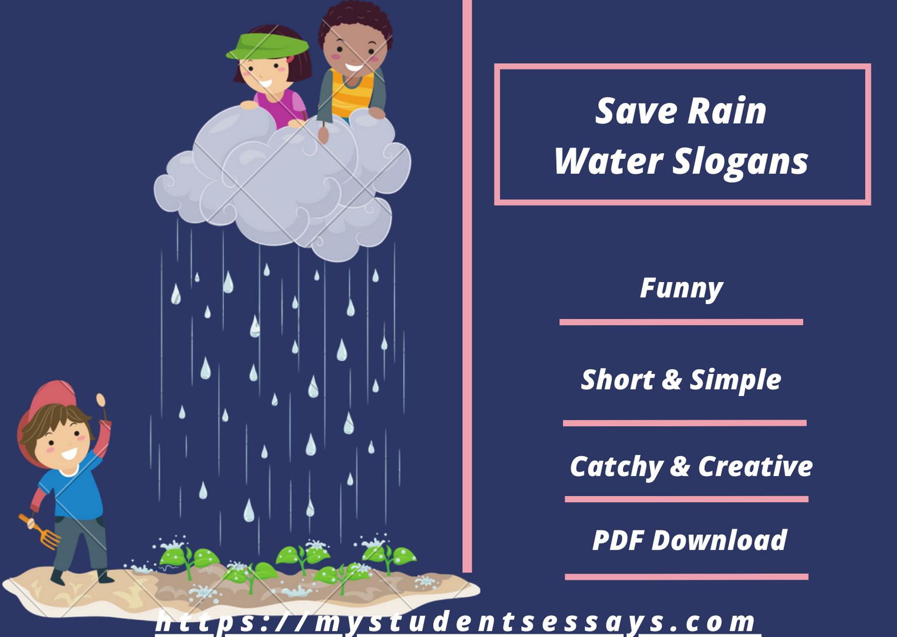 Save rain water slogans