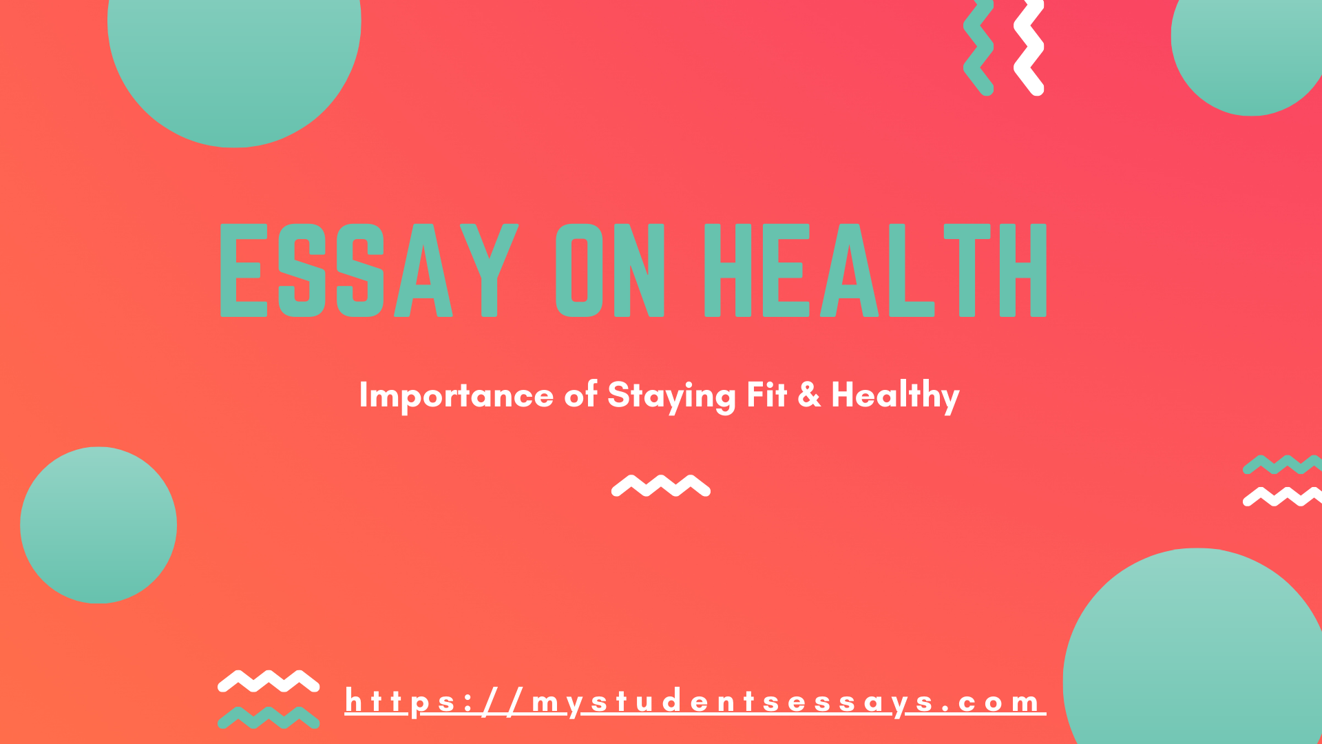 Essay On Health For Students