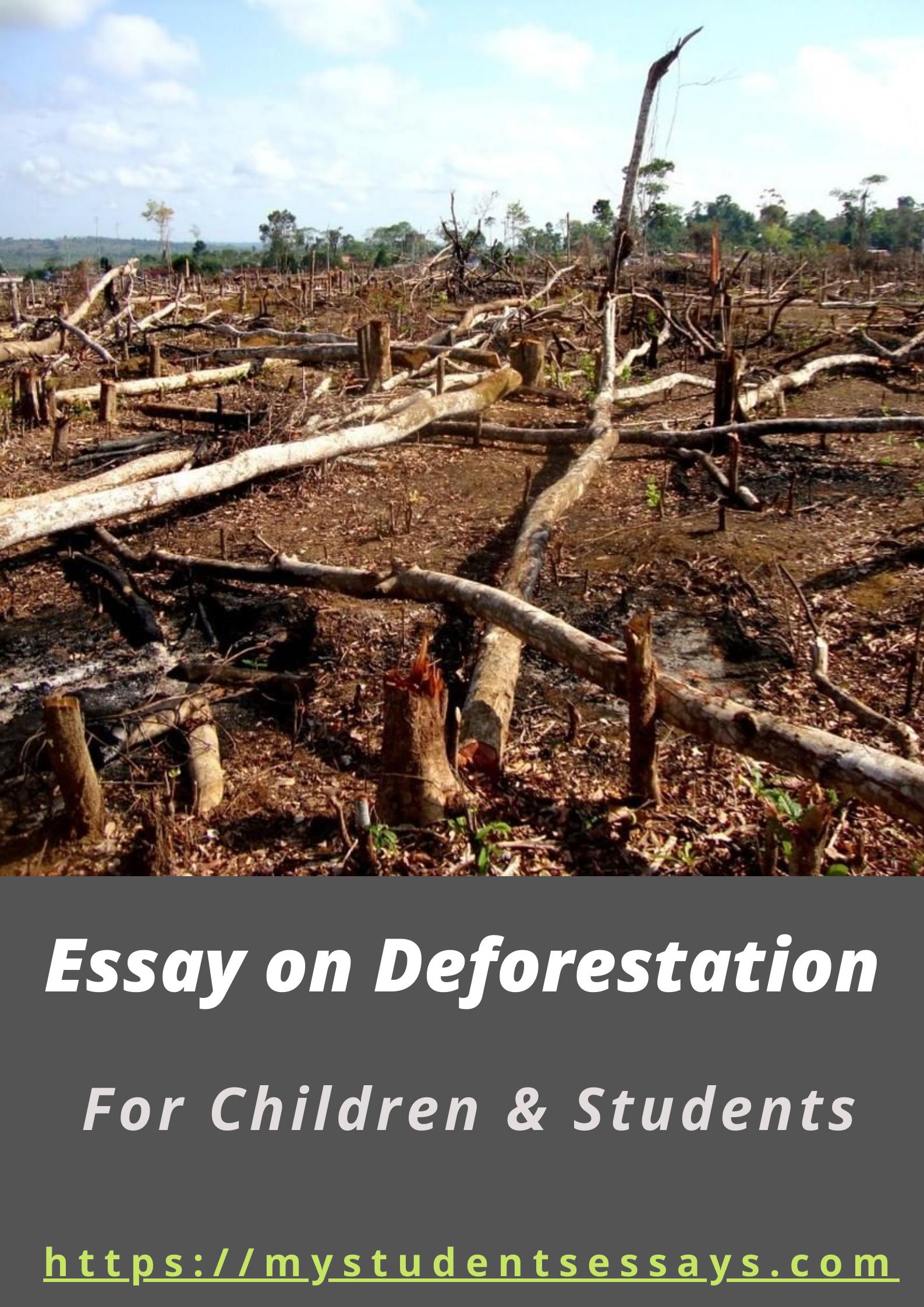 Essay & Paragraph on Deforestation