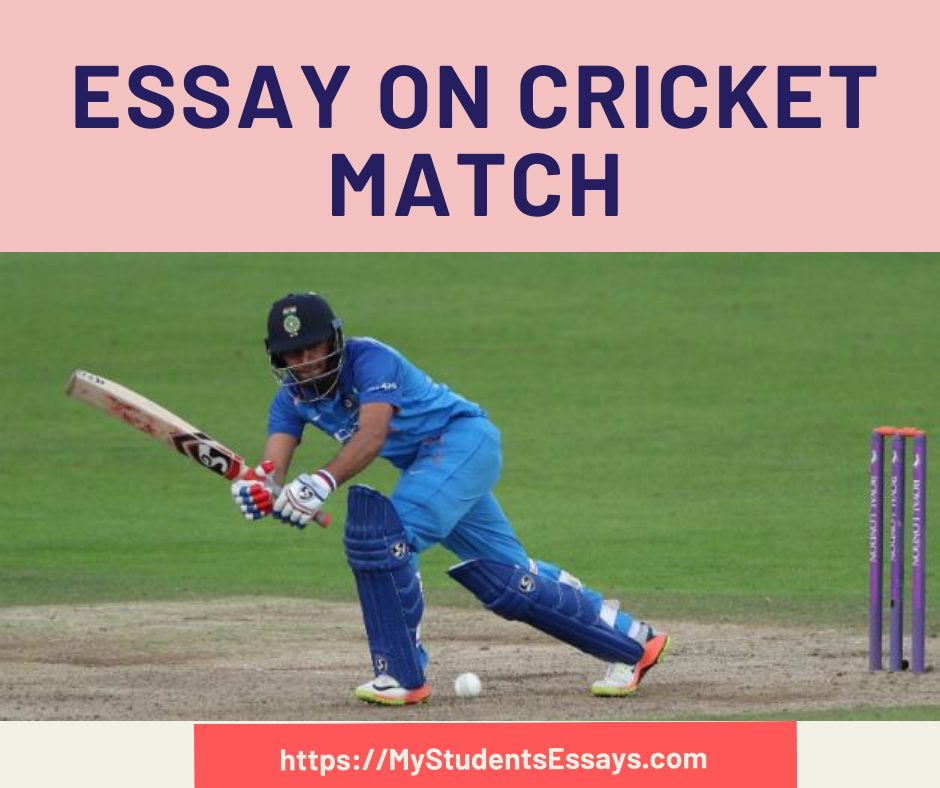 Essay on Cricket Match