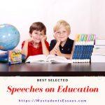 Speech On Education | Best Selected Speeches For Children & Students