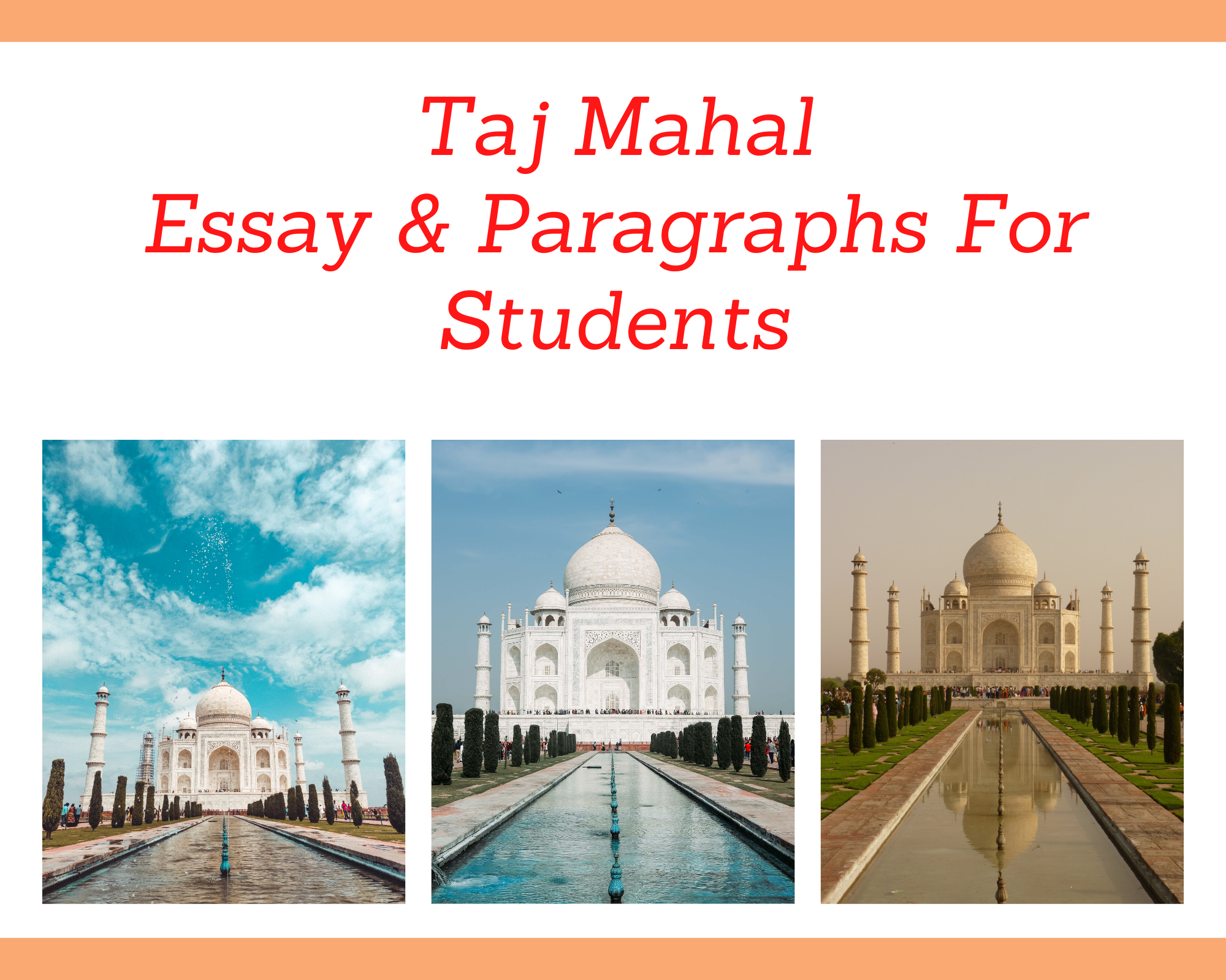 Essay on Taj Mahal