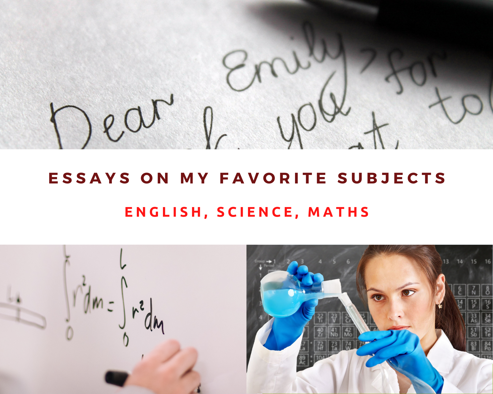 Essay on My Favourite Subject English, Maths & Science