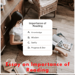 Essay on Importance of Reading | 10 Lines & More Sentences