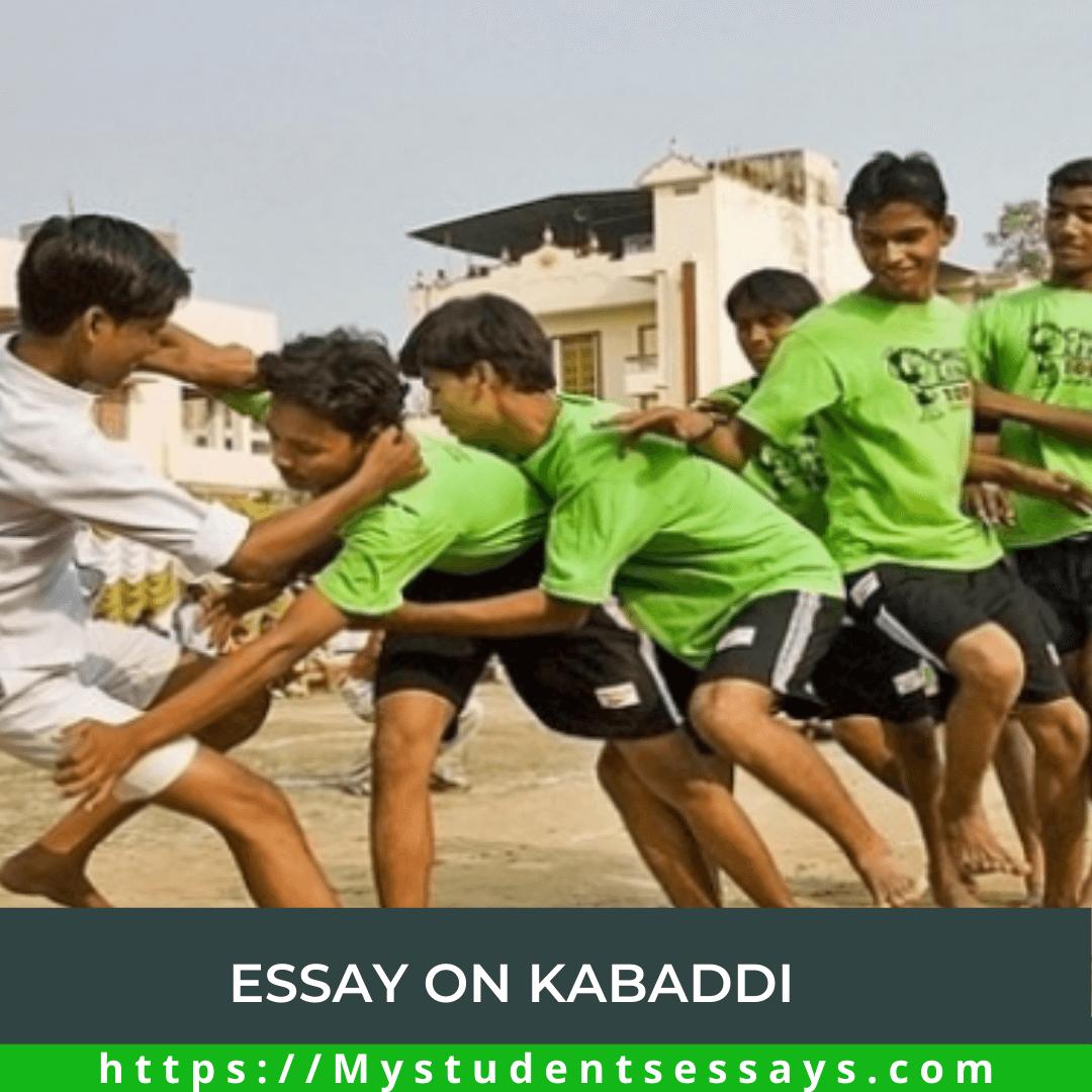 Kabaddi Essay For Children & Students