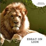Essay on Lion | Short Essay 10 Lines & Few More Sentences For Students