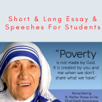 Essay on Mother Teresa | Bio, Life & Achievements For Students