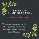 Essay on Summer Season | My Favourite Summer Season Essay