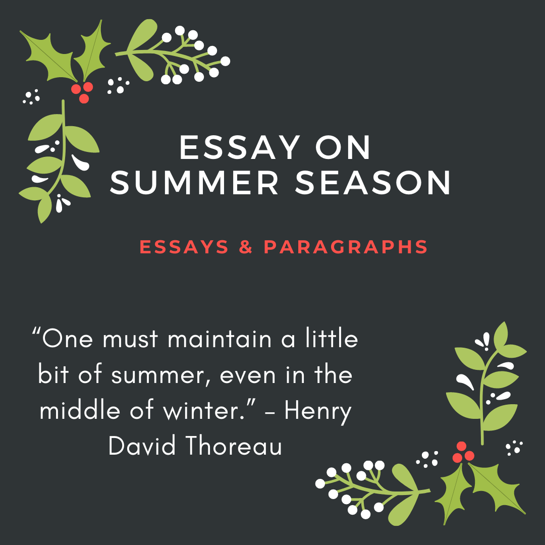 Essay on Summer Season For Students