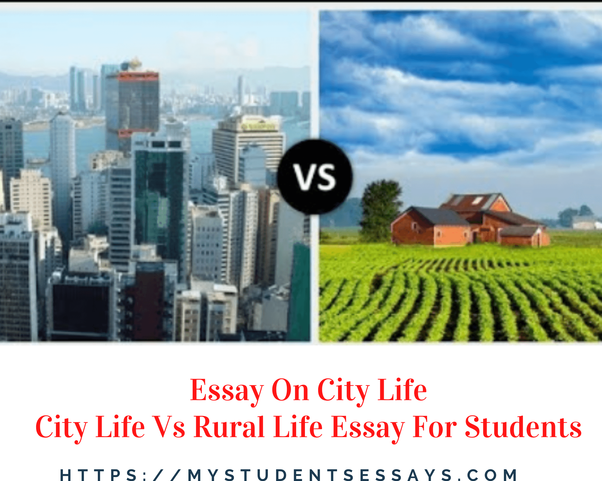 City Life Essay For Children & Students