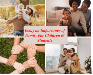 Essay on importance of family for children and students