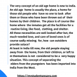 Essay On Old Age home | Need & Importance, Visit to Old Age home