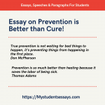 Essay on Prevention is Better than Cure [ With Examples & Explanation ]