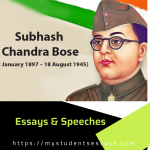 Subhash Chandra Bose Essay : 10 Lines, More Sentences & Short Essays