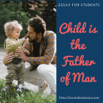 Essay on Child is the Father of Man [ Explanation with Examples ]