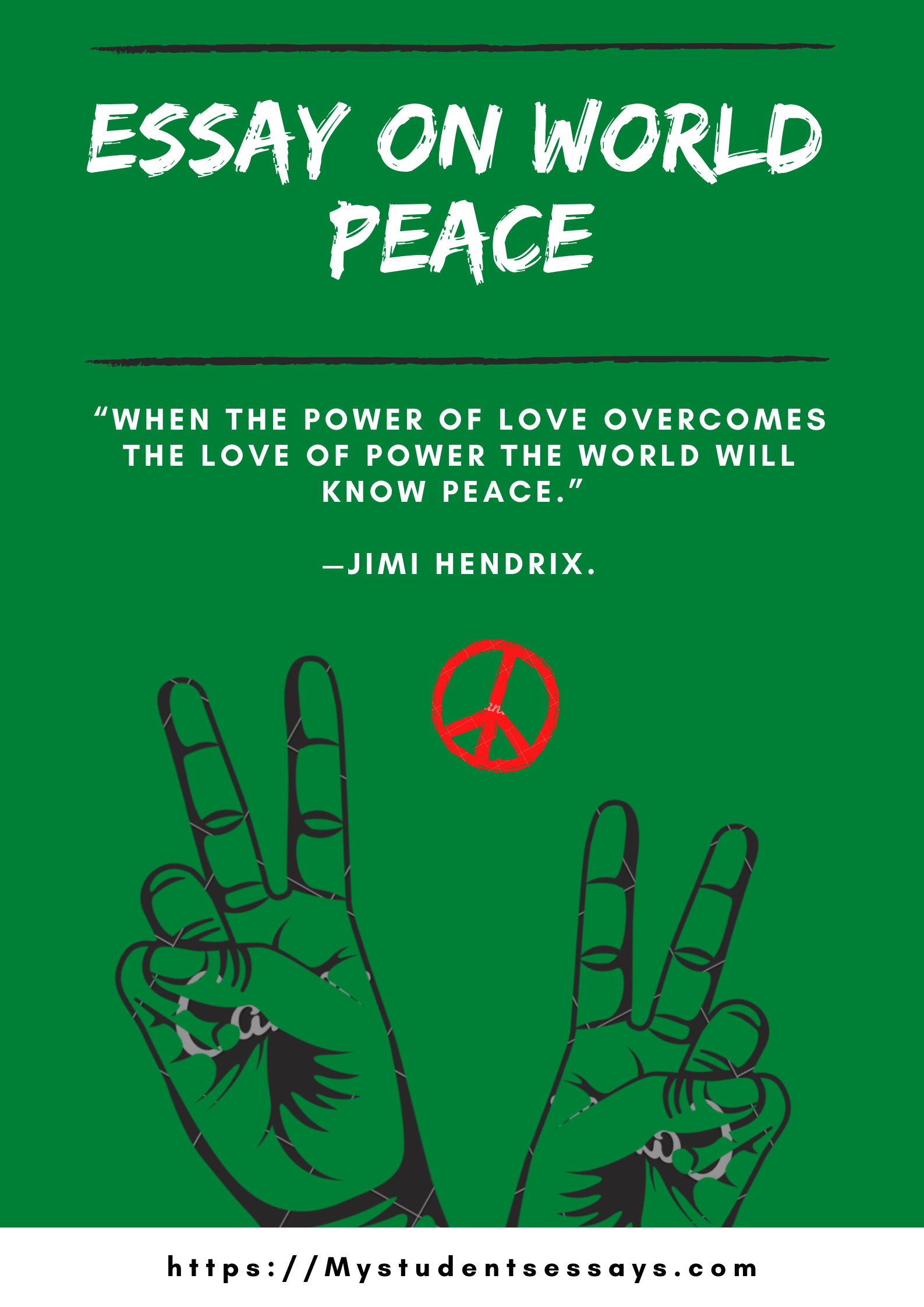 essay on world peace for children & students