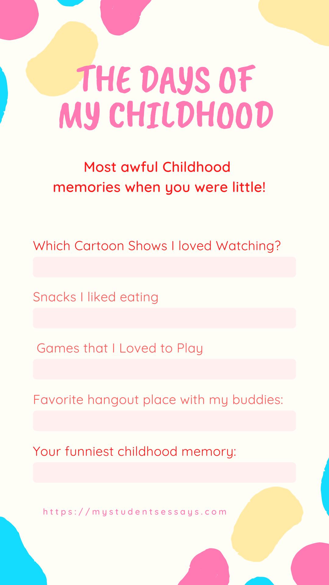 Funniest childhood memories essay