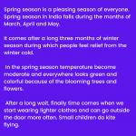 Spring Season Essay   Why I Like Spring, 10 Lines & Short Essay