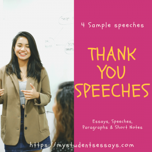 Thank You Speeches For Farewell